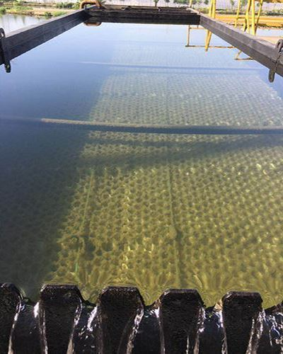 净水器絮凝沉淀池中的蜂窝斜管