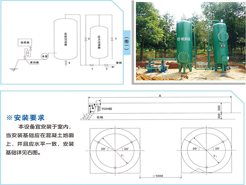组合式一体化净水设备安装示意图