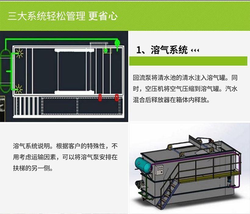 一体化气浮设备的溶气系统